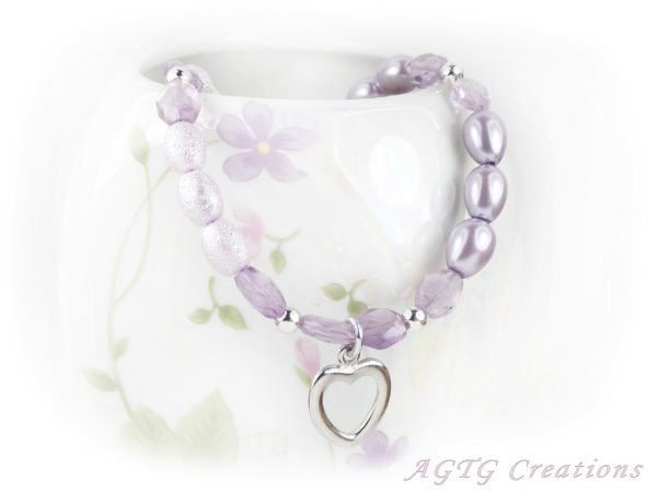 beaded heart toggle bracelet