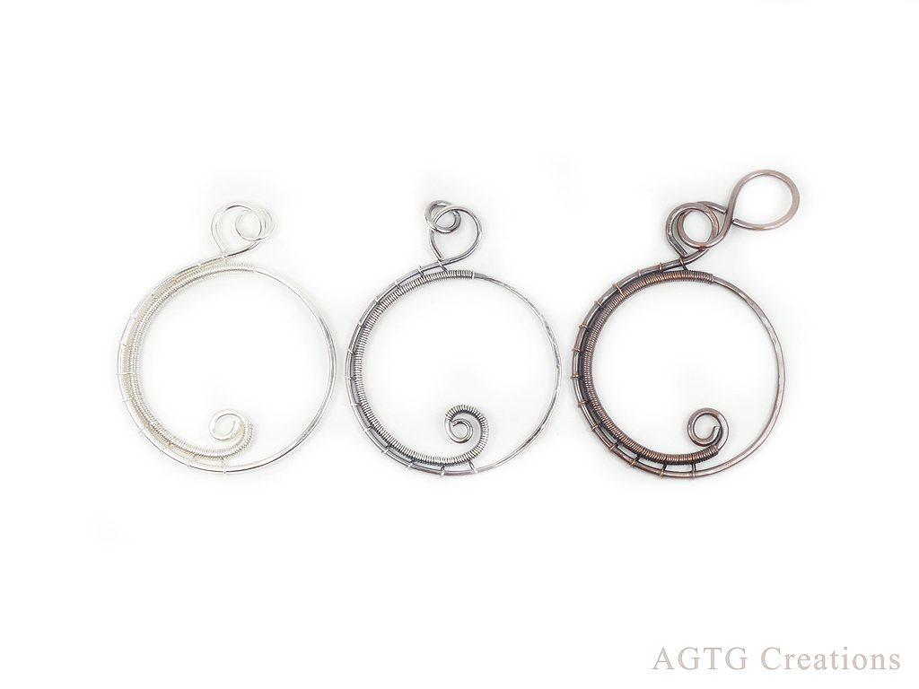 Wave curl pendants