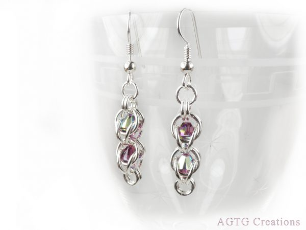 bead cage earrings