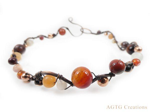 gemstone wave bracelet