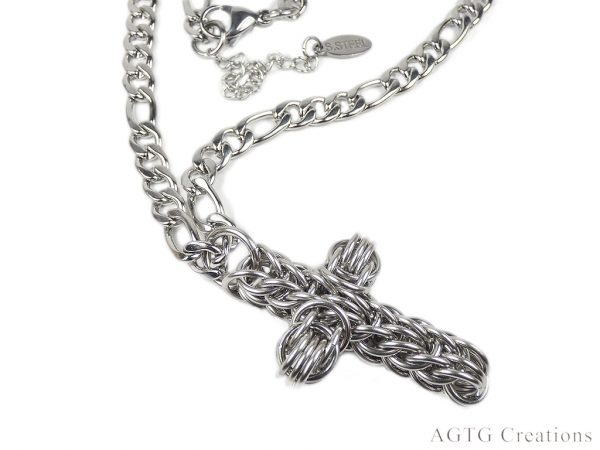 s. steel cross pendant