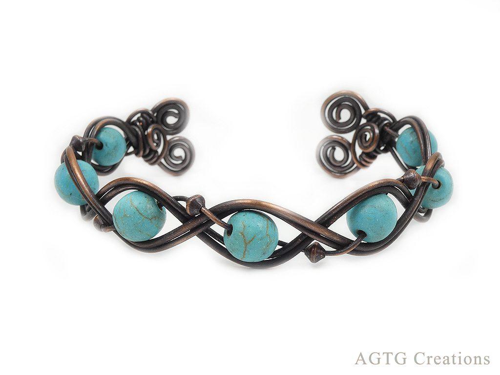 braided gemstone bracelet