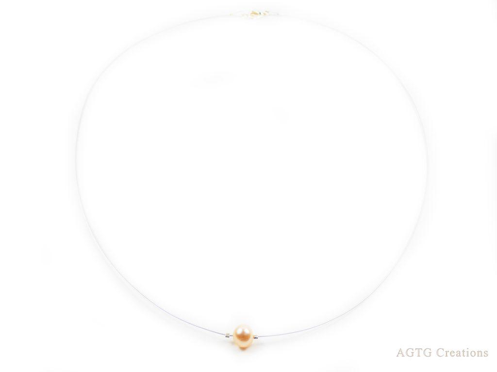 minimalist single bead necklace