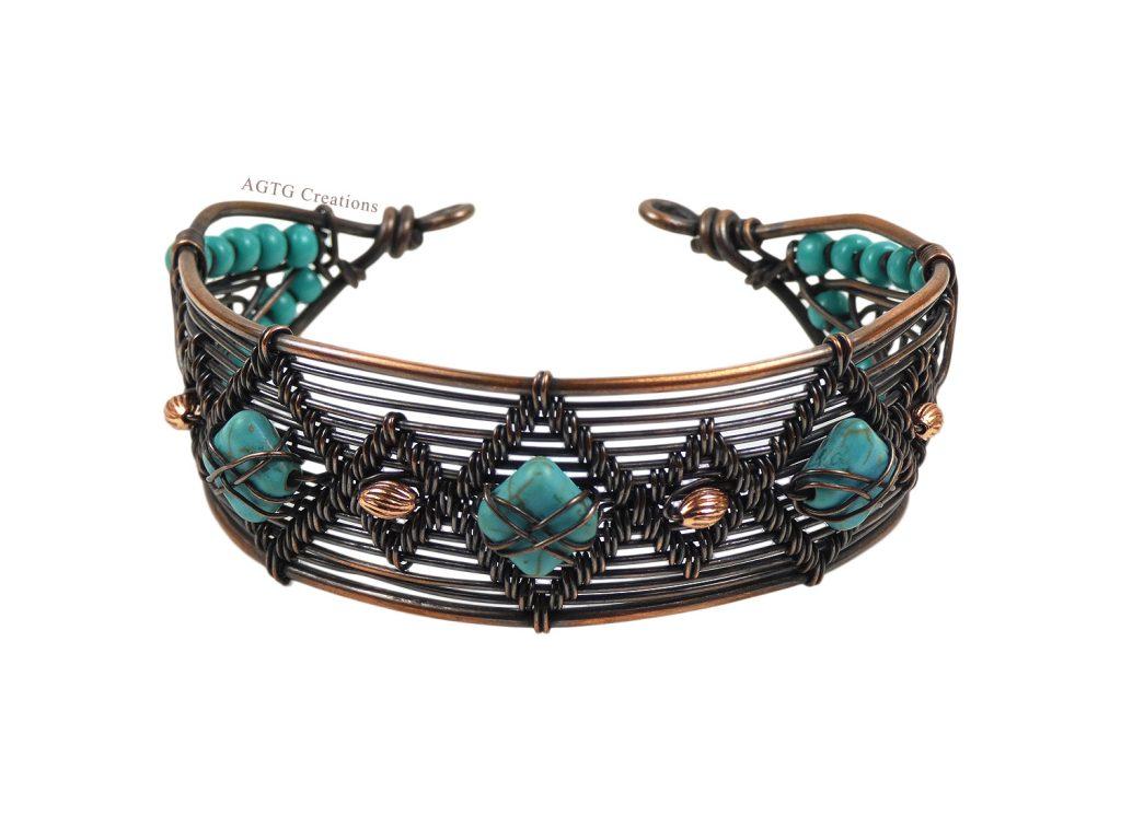 Flameweave Magnesite Wirework Bracelet