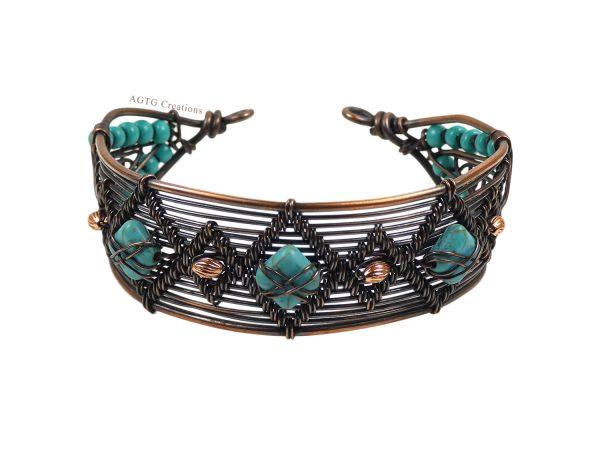wirework wide bracelet