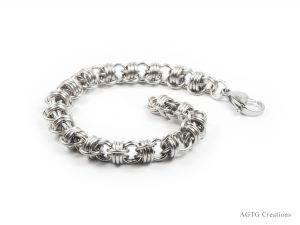 St. Steel Triple Barrel bracelet