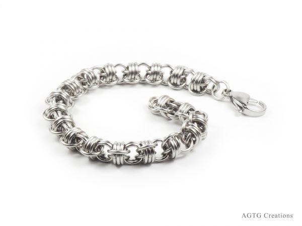St. Steel Triple Barrel bracelet