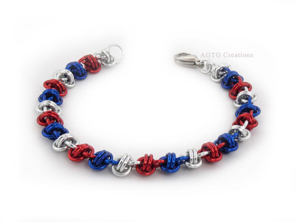 Double barrel Patriotic bracelet