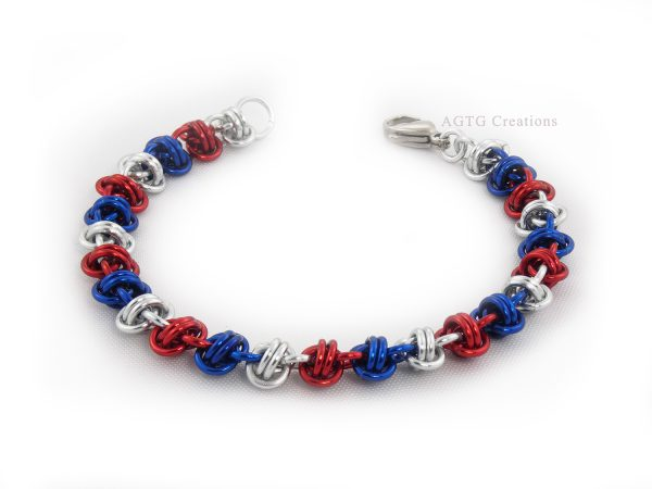 Double barrel Patriotic bracelet
