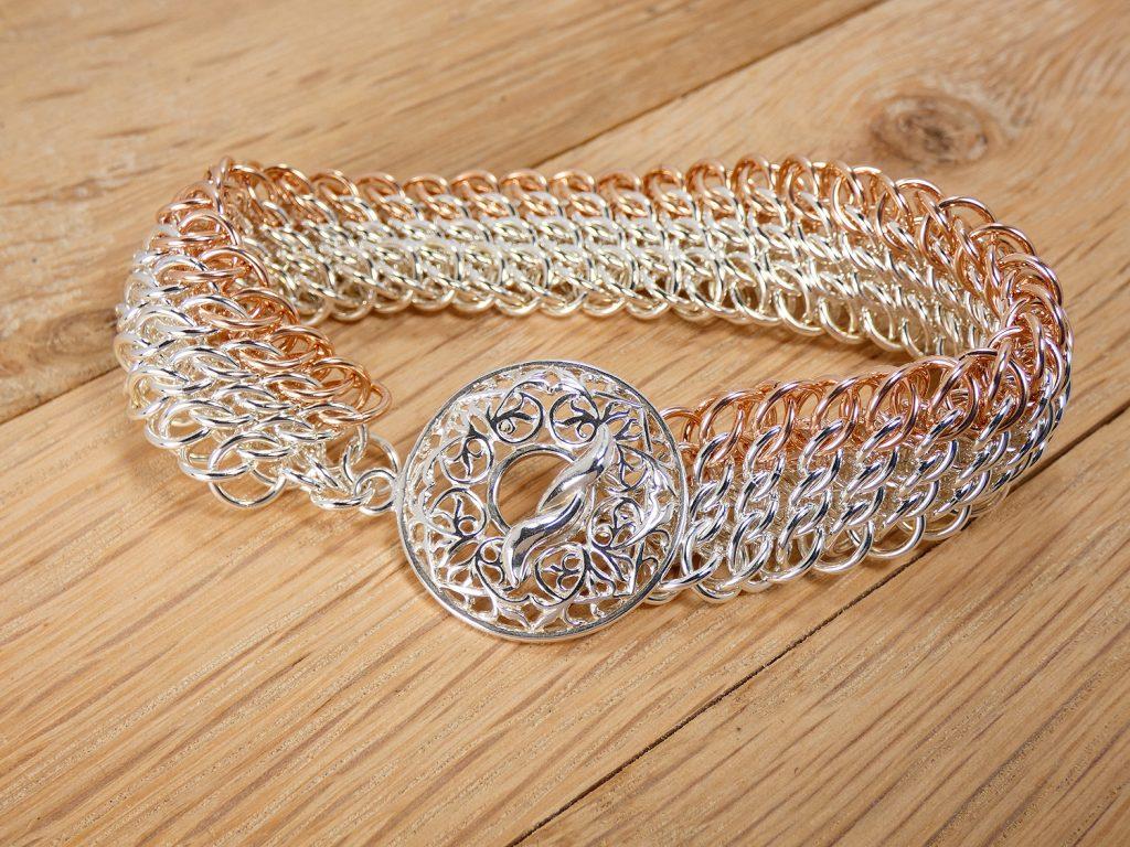 Argentium Rose Gold GSG Sheet bracelet
