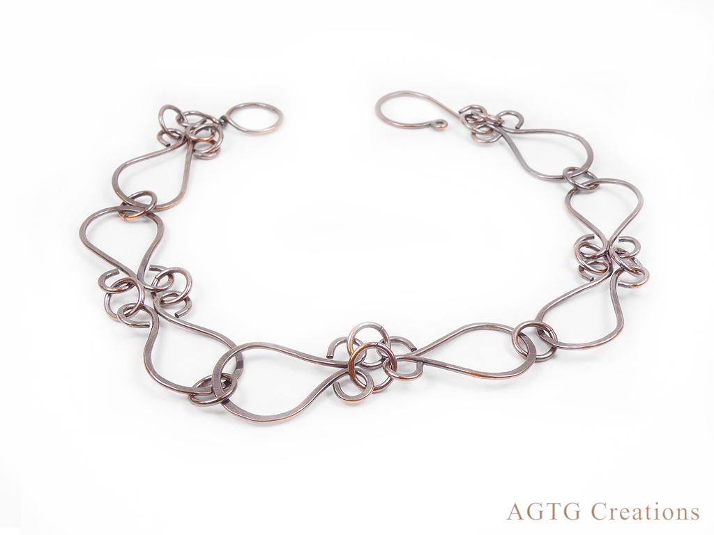 Copper Chaplain chain bracelet