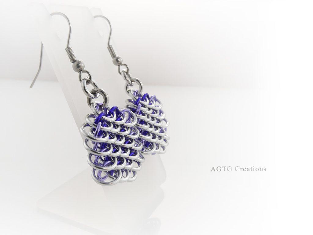 Purple Dragonscale Earrings