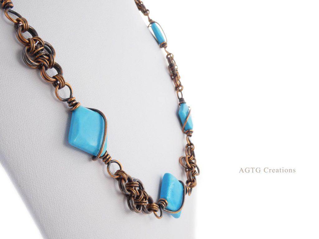 Japanese Lace copper magnesite necklace