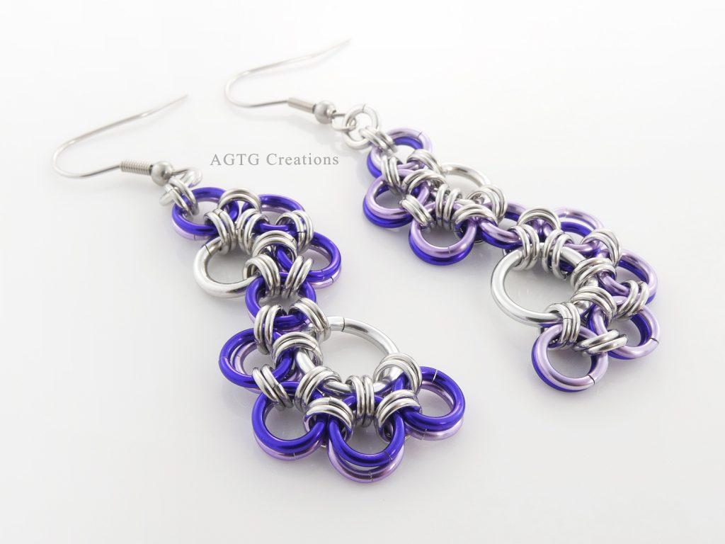 Purple Shenandoah earrings