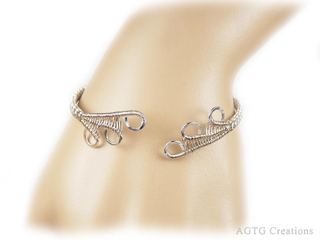 Argentium Dragon Claw wirework bracelet